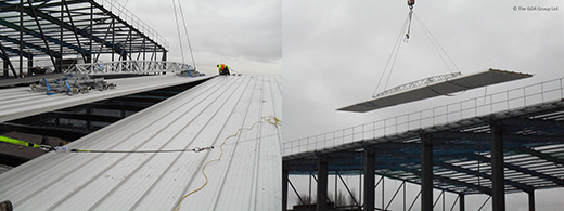 Multi-Clad DT10 installing roof panels