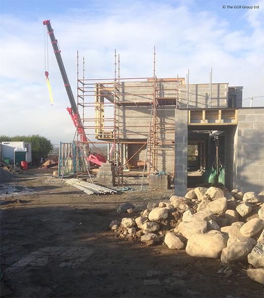 UNIC mini crane working on Grand Designs project