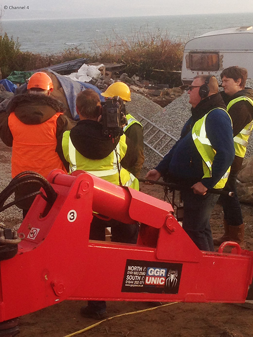 Filming for Grand Designs in North Wales