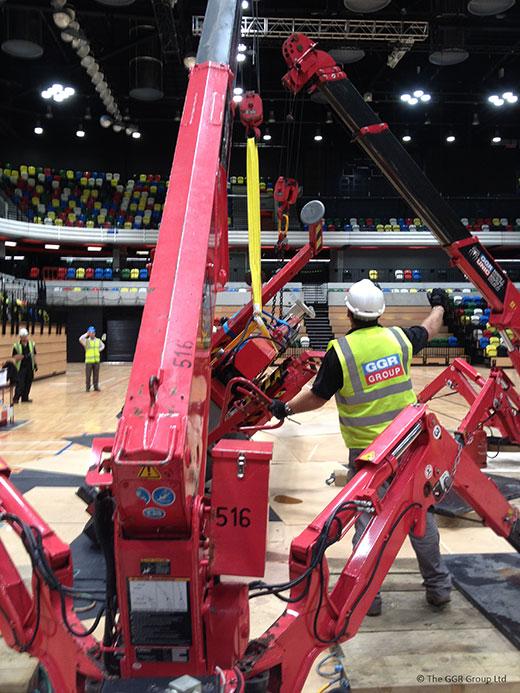 UNIC crane working at Copper Box Olympic stadium