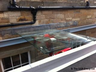 Haymarket station overhead glazing