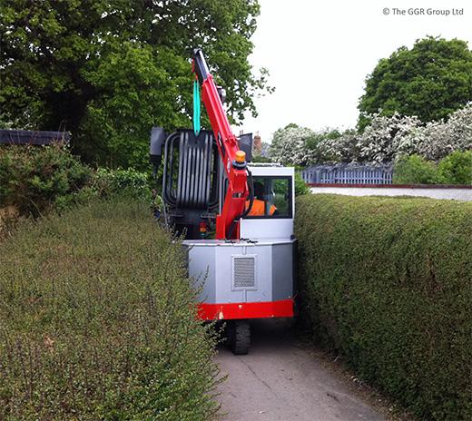 G35 travels in between hedgerows