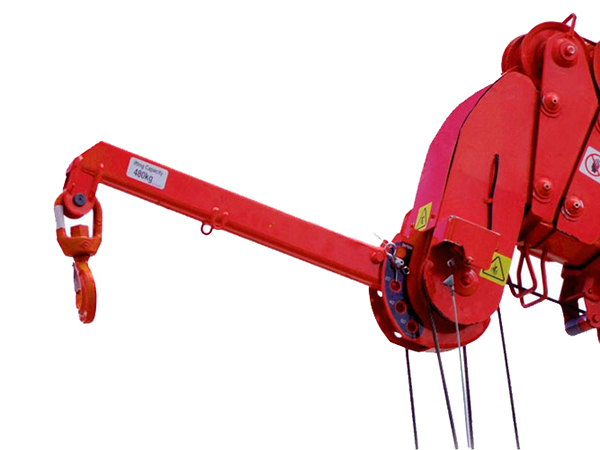 500kg UNIC Mini Spider Crane Searcher Hook Working Load Table
