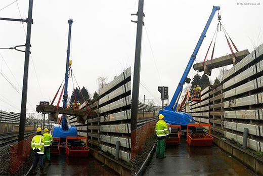 MCC805 builds sound barrier on Belgium railway