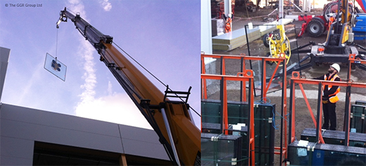 Starworker 1200 crane installs supermarket roof glazing