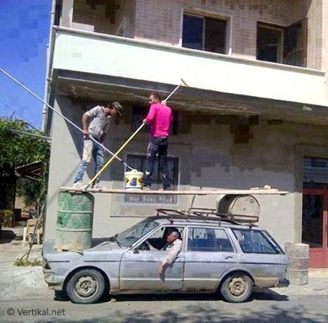 Using a car as mobile access platform