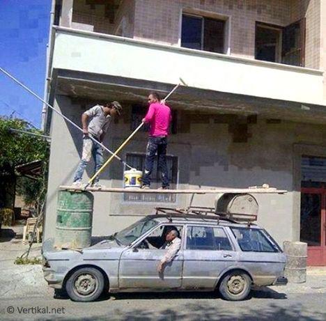 Using a car as mobile access platform