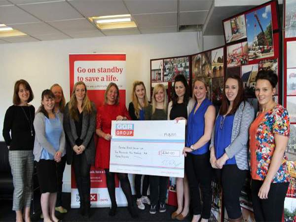 GGR Present Cheque to Team Margot & Delete Blood Cancer Charity