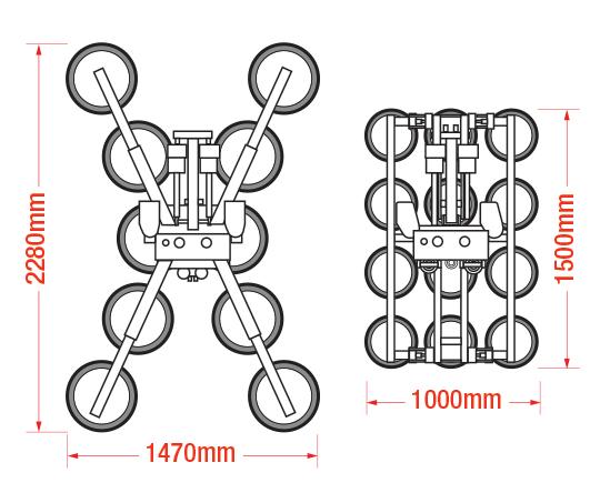 Dimensions of the GL-UMC 1000 manipulator
