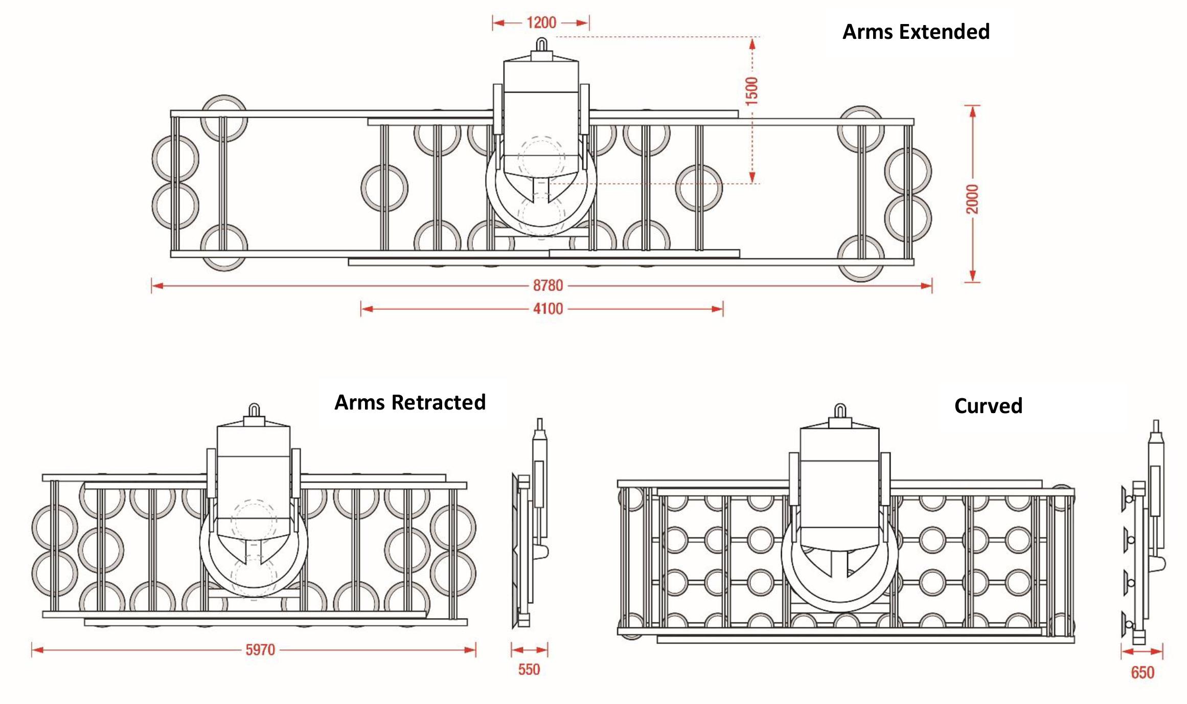 Hydraulica 6000 - Dimensions