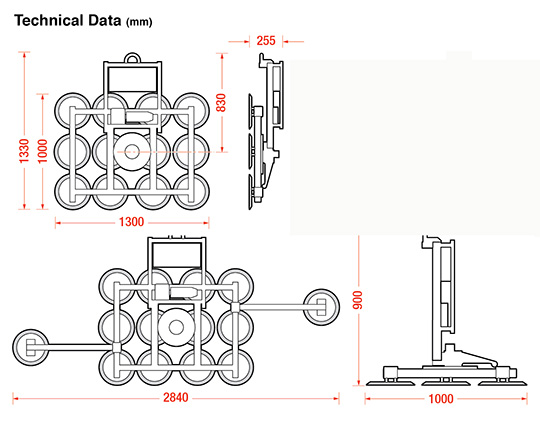 Dimensions of the Kombi 7211-DS2