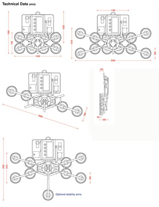 Kombi 7441-Quadra dimensions