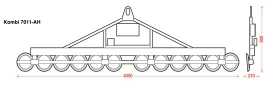 Dimensions of the Kombi 7011-AH