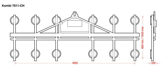 Kombi 7011-CH Dimensions