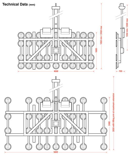 Kombi Quadzilla dimensions