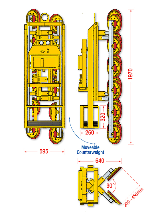 Dimensions of the Corner Lifter