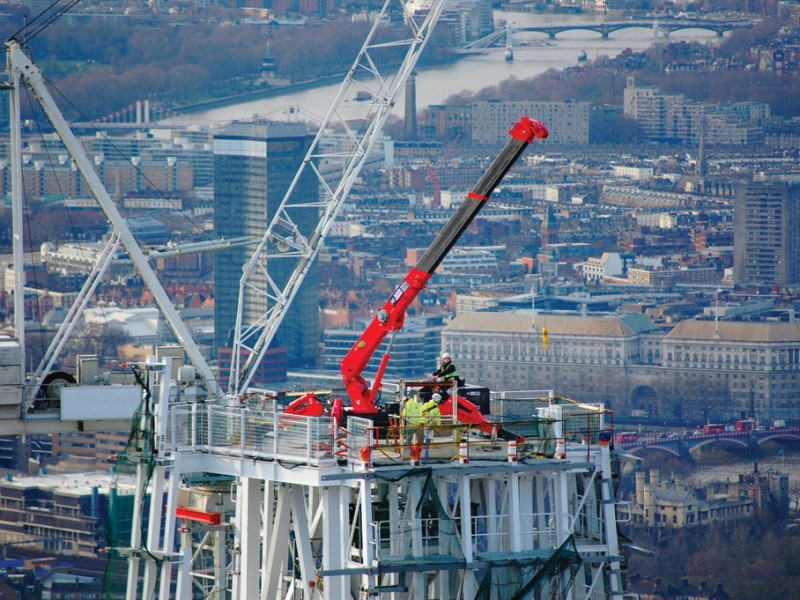 GGR Group Mini Crane on top of The Shard
