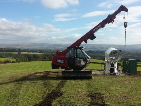 GGR Helps Pennines Wind Turbine Reach For The Sky