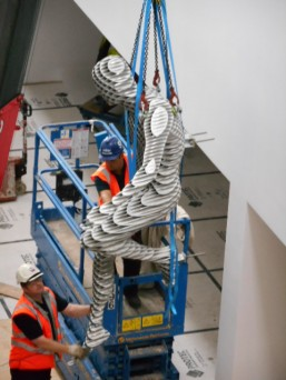 GGR Lifts Man of Steel Sculpture