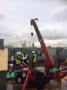 GGR Mini Spider Crane London Rooftop 1