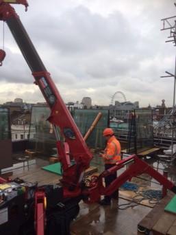 GGR Mini Spider Crane London Rooftop