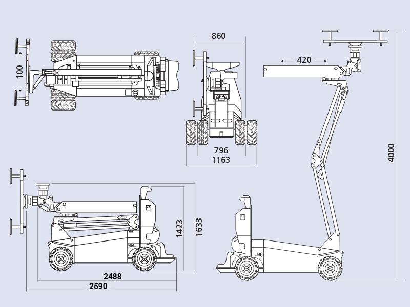 Cobra 550 Dimensions