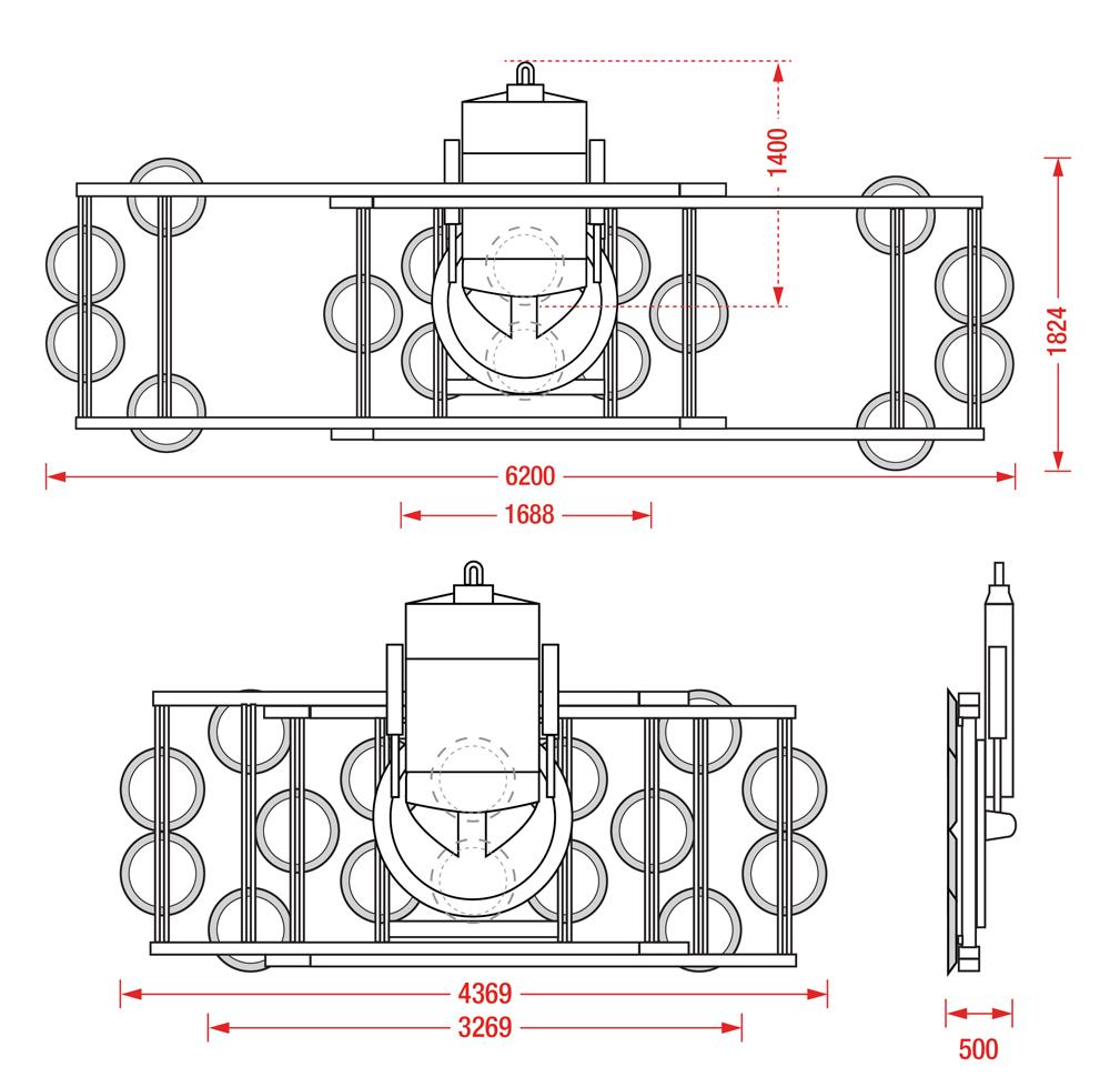 Hydraulica 4000 Dimensions - Vacuum Lifting