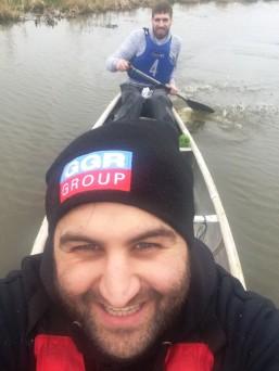 Dan and Robbie canoe