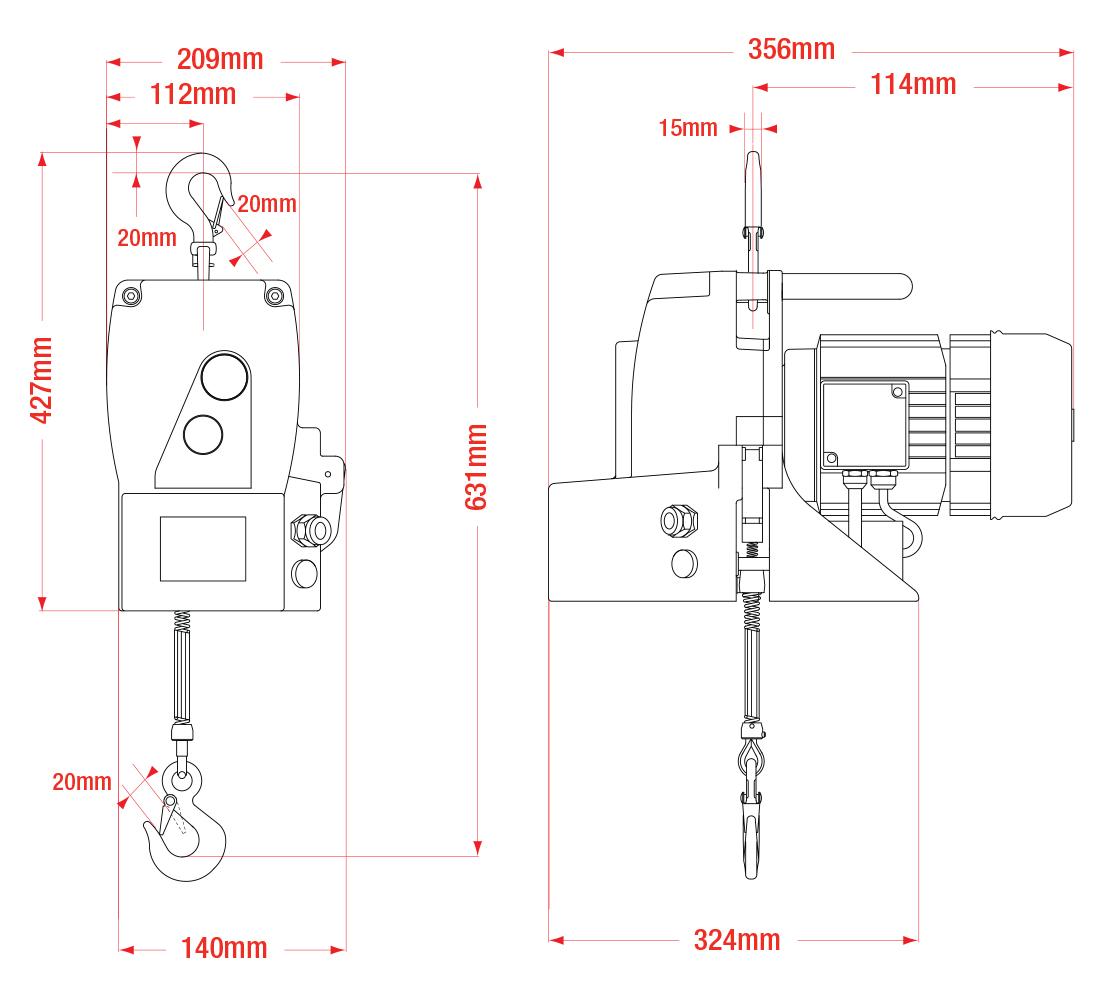 Minifor TR30 Dimensions