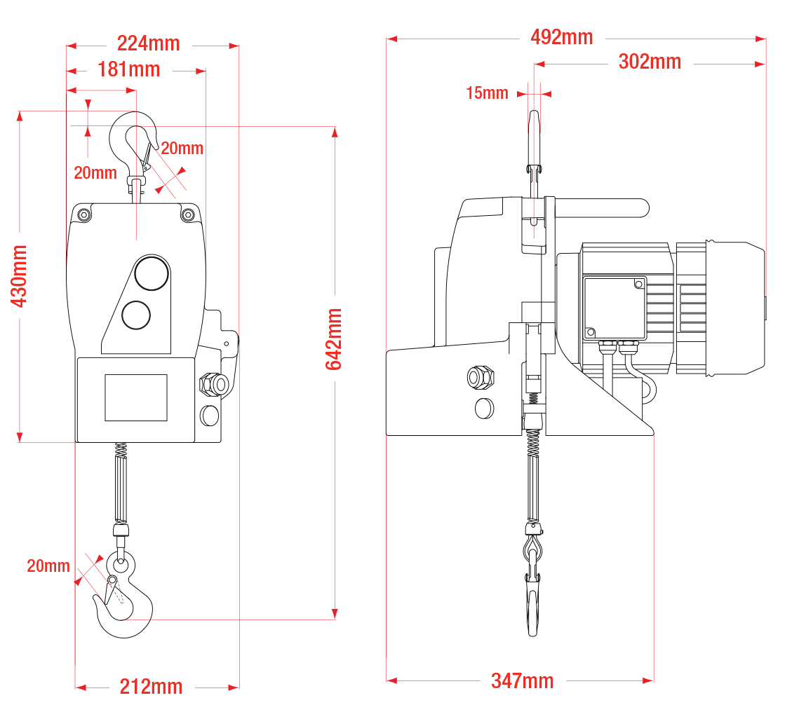 Minifor TR50 Dimensions