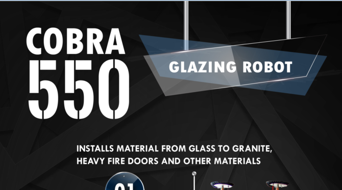 Cobra 550 Glazing Robot