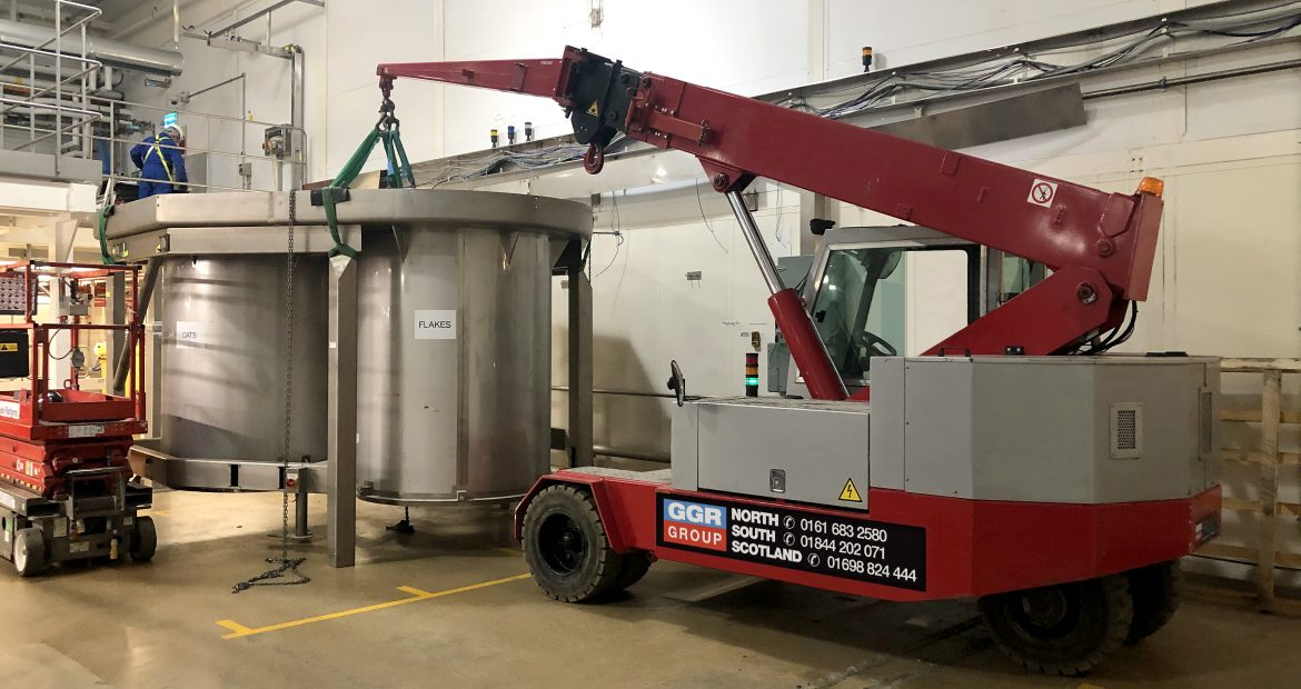 Pick and Carry Crane Machine Removal