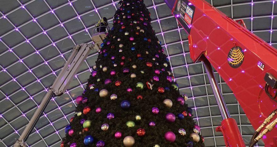 GGR Group Lifts Christmas Tree